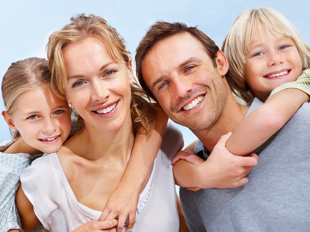 smiling family - general dentistry by downtown dentistry
